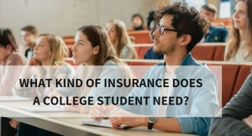 blog image of college students in classroom; blog title: What Kind of Insurance Does a College Student Need_